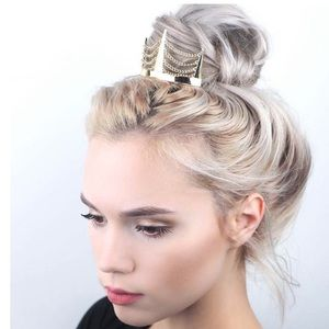 Free People Chain Bun Pin In Gold